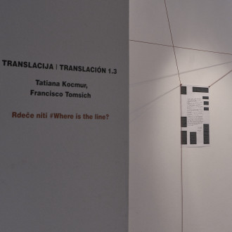 Translacija | Traslación 1.3, Red Threads #Where is the Line, 2018, Rampa Lab, Ljubljana